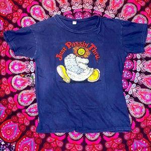 1970s Robert Crumb Mr. Natural Hippie T-shirt. L